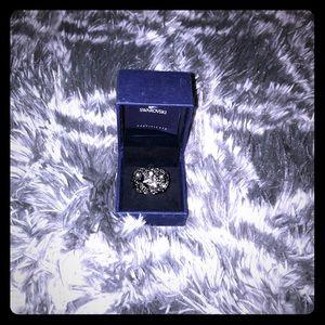 Swarovski Black and Silver Star Dome Ring